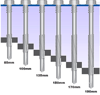 light section composite panel screws