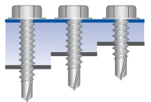 Small light section screws